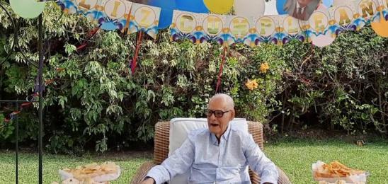 Cumpleaños de Enrique en Residencia La Molina
